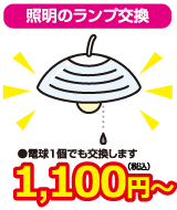 照明のランプ交換